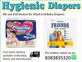 Baby and Adult diapers