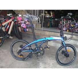 """Sepeda Lipat Element 20"""" Ecosmo 9 Rainbow"""