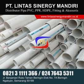 PIPA PARALON PVC JIS LANGGENG PUTIH TIPE AW D C MURAH READY LENGKAP
