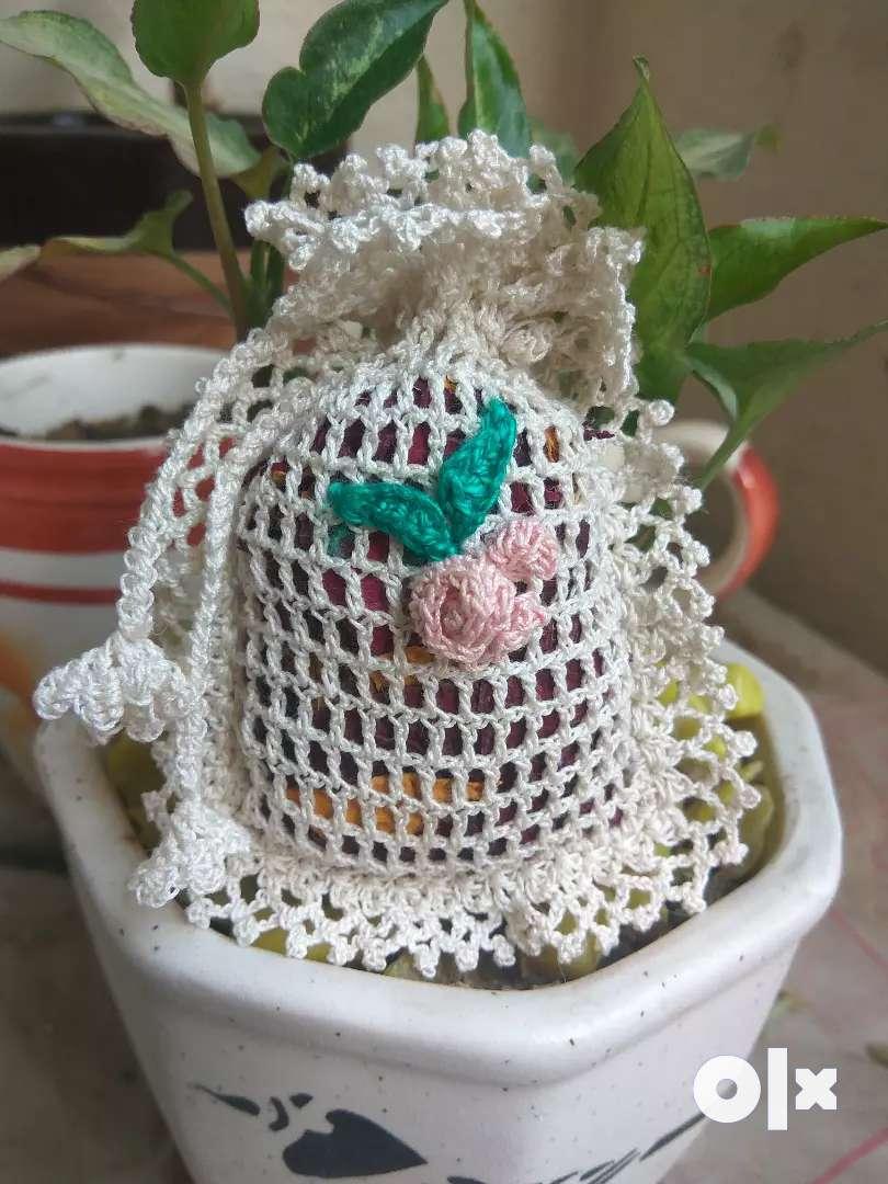 Cute Handmade Crochet Pouch / Potli 0