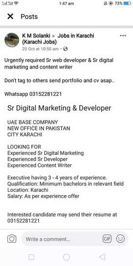 Sr Digital Marketing Executive