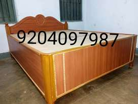 Brand new wooden double box bed size 5/6.5.