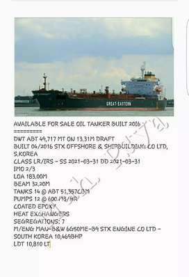 Jual kapal oil tengker DWT 49,717 MT thn 2016 hub bu heny via telp