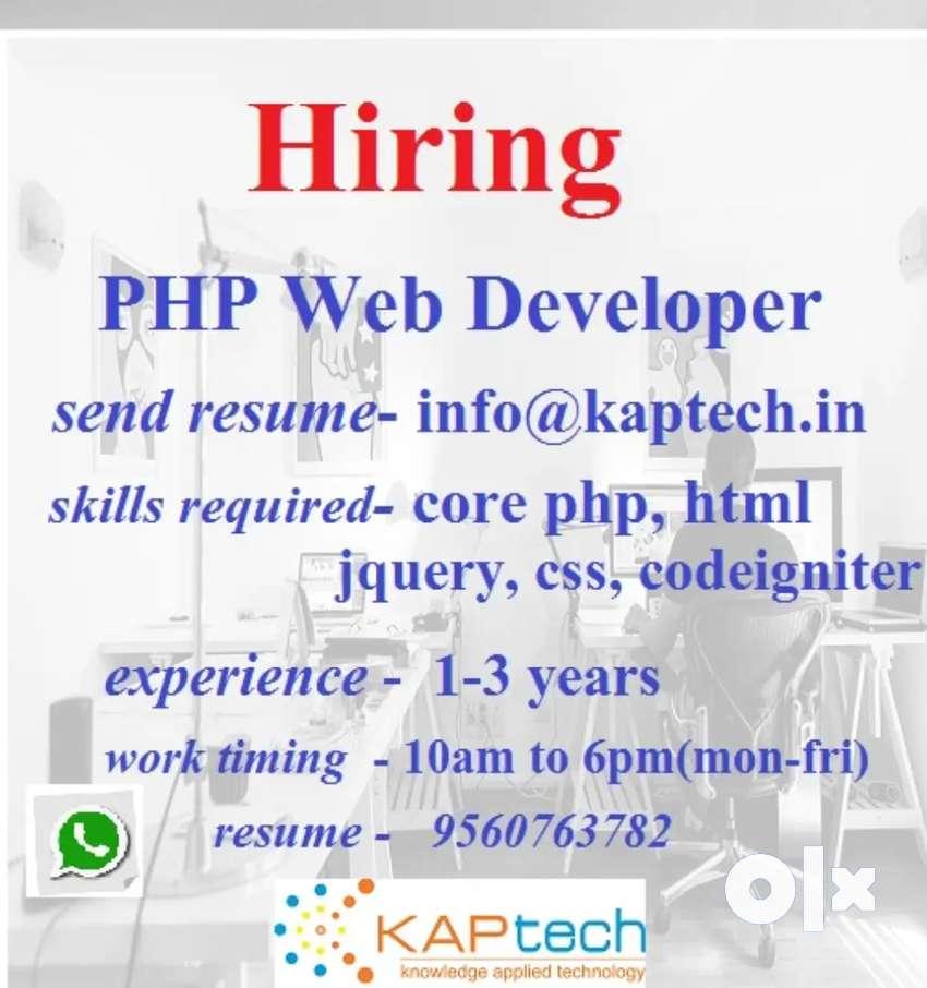 Web Developer Required, location East Delhi