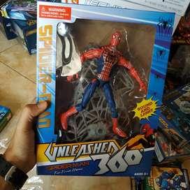 Action figure spiderman dan jaring laba2