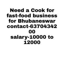 Want a indo-chinese cook for food van service.