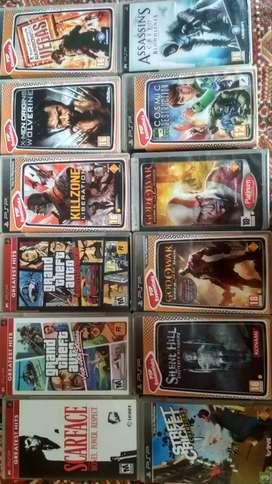 Psp games set of 12 original CD's