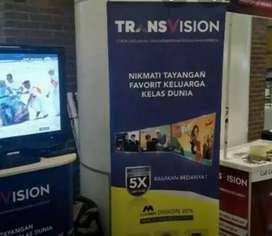 Pasang murah Transvision HD resmi kota Palangkaraya free instalasi