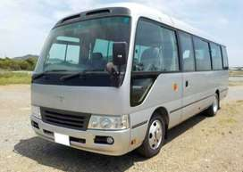 Toyota Coaster on easy monthly installment.