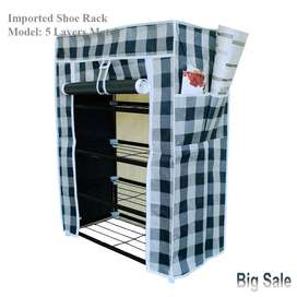 Single Shoe Rack 5 Layer Metal Shelves, Furniture is a style of life.