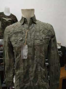 Kemeja army look impor