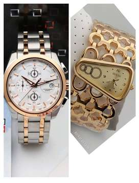 Branded women's men watches available with all chronography working, s