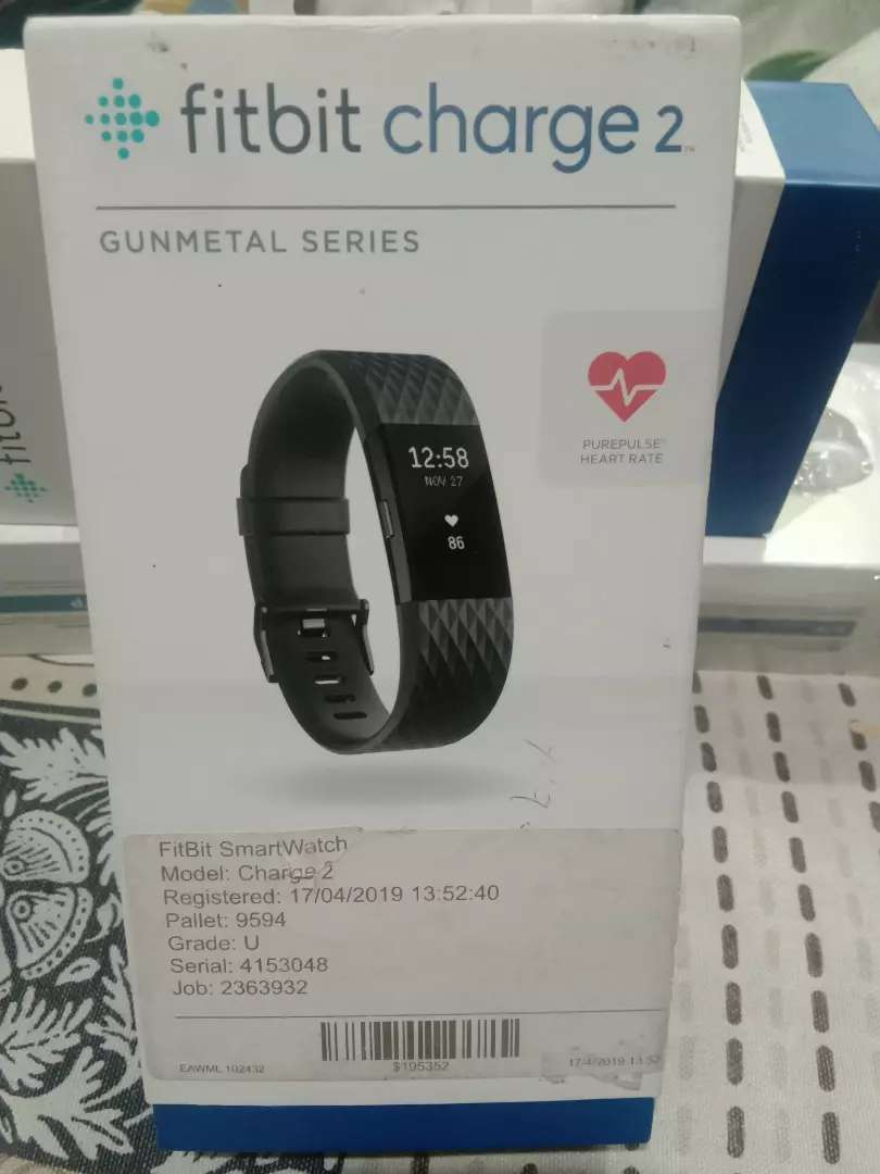Fitbit charge 2 Smart watch Band Gunmetal Colour Came from England 0