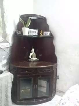Wooden Corner Shelf Stand