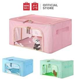 Miniso official We bare bear 22L large capacity storage box kotak