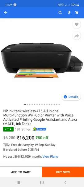 HP 415 wireless color printer