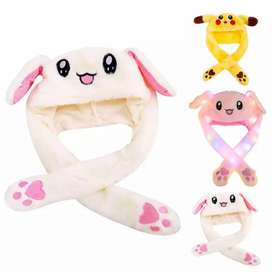 Topi Kelinci dan Pokemon Lucu Gerak Kuping LED