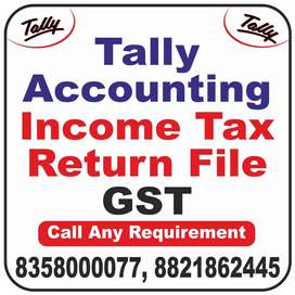 Tally ERP9 Total Accounting, GST file ,ITR { income tax }