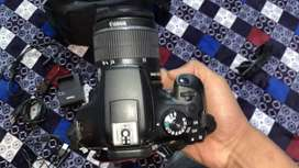 Canon 1300d with 18-55mm lanse battery data cable