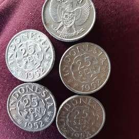 Uang koin kuno 25 sen tahun 1952