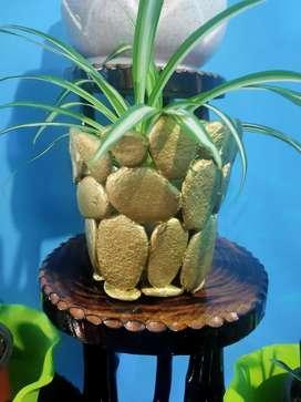 Handmade stone flower pot for sale