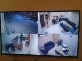 Cctv camera complete solution 2 Mp with dvr harddisk bnc wire install