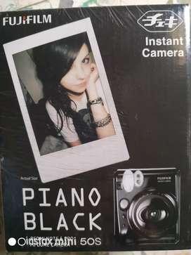 Fuji piano black instax mini 50s instant camera