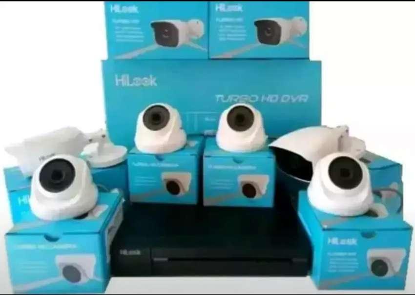 Paket cctv Hikvision spek komplit : - cam indoor - cam outdoor - 0