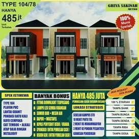 Rumah baru 'tanpa bunga Tpe78/104 Griya Sakinah Metro.