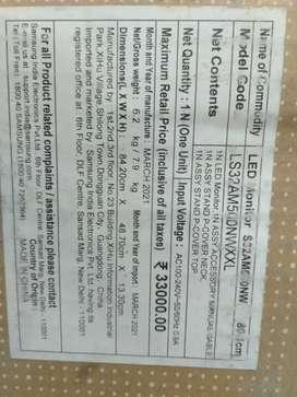 Samsung(LS32AM500NWXXL)IPS BORDERLESS FULL HD SMART REMOTE MONITOR