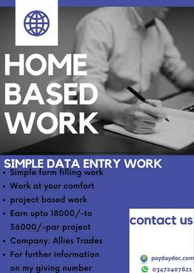 Home Based Simple Data Entry Work
