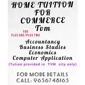 Home Tuition for Commerce. Trivandrum city