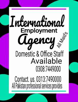 Maid's baby care housekeeping All staff provides