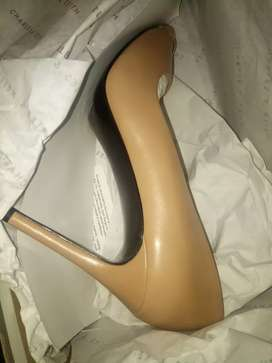 Charles and Keith nude heels