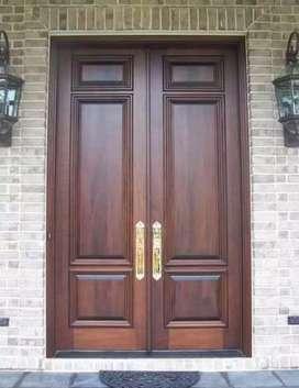 Pintu dan kusen murah kayu solid, kirim jabodetabek.