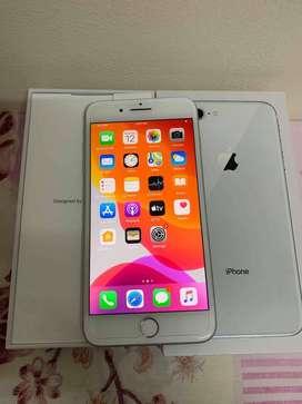 i phone 8 plus silver color all accessories with bill & box  cod servi