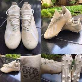 Sepatu Bola ADIDAS X 18.3 FG - WHITE Sz 44
