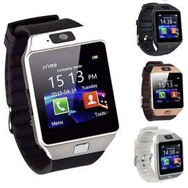 online Compatible Bluetooth Smartwatch / Wrist Watch (DZ 09 Black) wit
