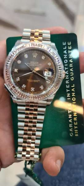 Brand new Rolex 41mm chocolate diamond dial full set available