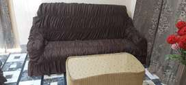 5 Seater Sofa Set with Table And Covers.