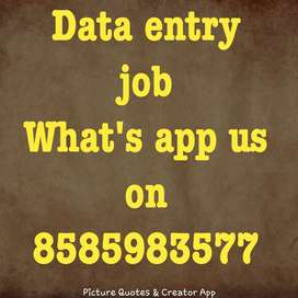 for home based part time job need a candidates for data entry job