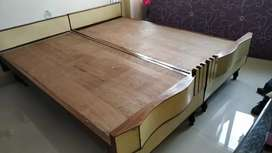 6*6 Wooden Double Bed