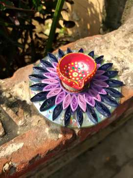 Decorative Diya  with stand