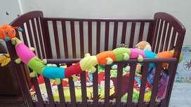 Babyhug WOODEN COT N BED