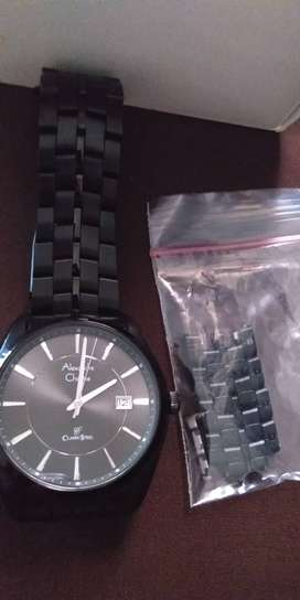 Jam tangan alexandre christie pria warna hitam