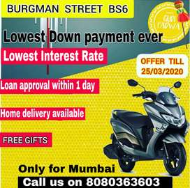 Brand New Burgman On lowest Down-payment and EMI