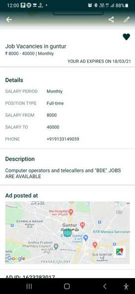 Prime promotions private limited in Guntur job vacancies are available