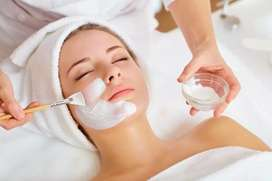 Home Professional facial packages Available for womens.