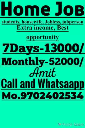 Most good opportunity .. weekly 13000