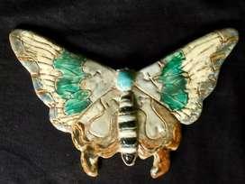 Porcelain butterfly, dim 16,5 cm